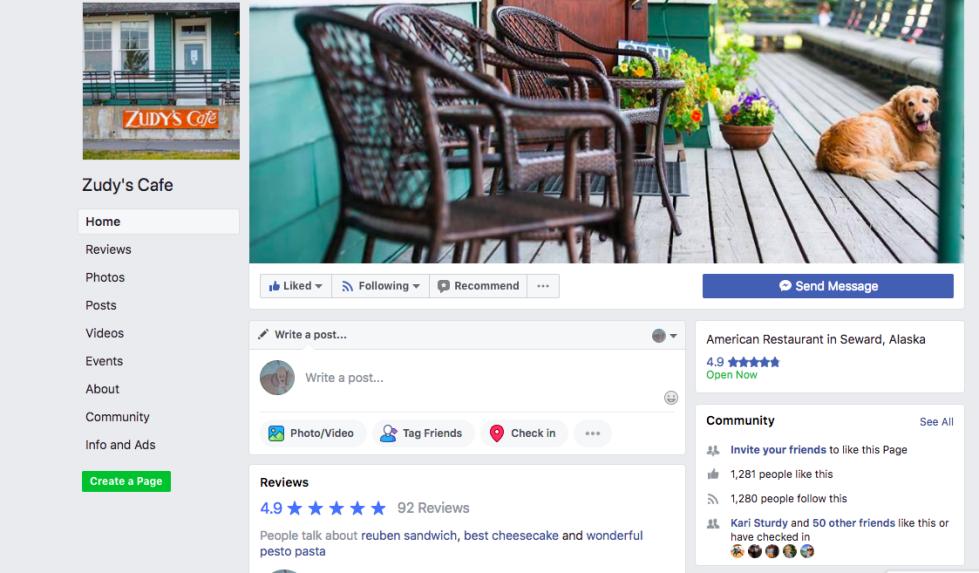 Zudys Cafe Facebook Home Pic