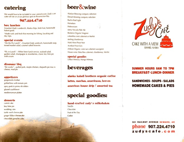 Zudy's Cafe Menu Pic2